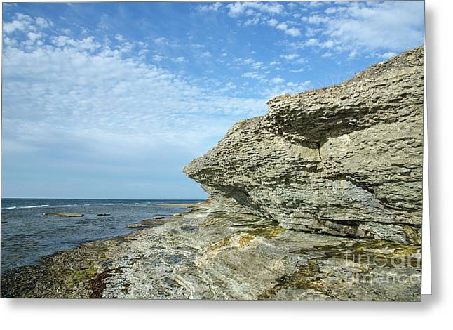 Greeting Card featuring the photograph Limestone Cliffs by Kennerth and Birgitta Kullman
