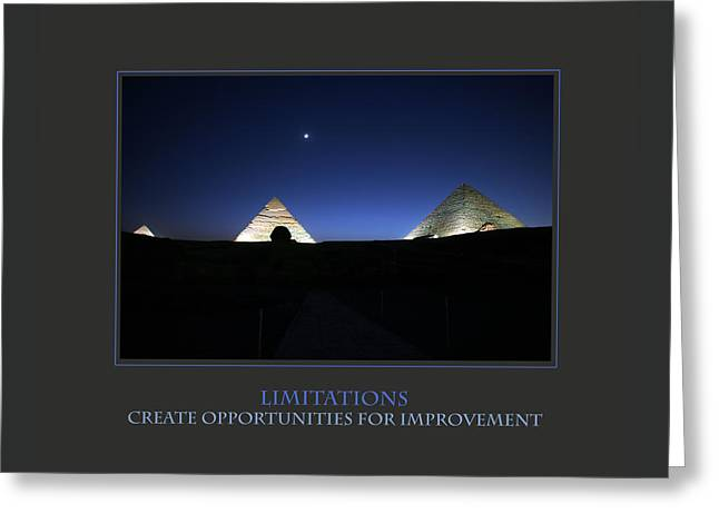 Limitations Create Opportunities For Improvement Greeting Card by Donna Corless