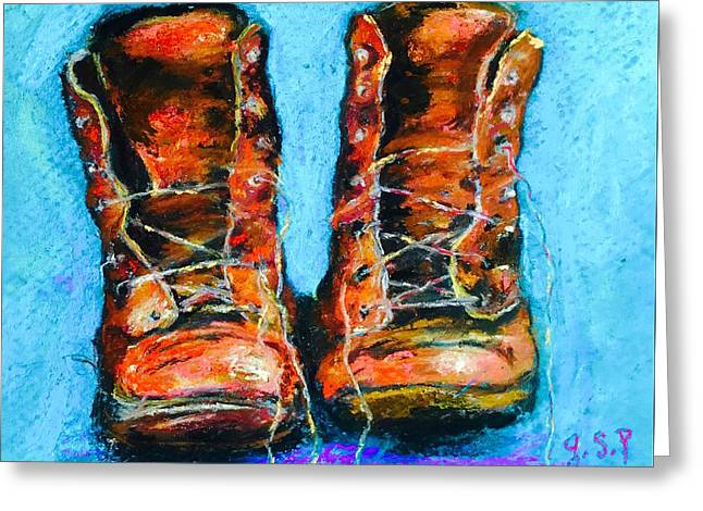 Limited Edition Wayward Shoe Laces Greeting Card by Julia S Powell