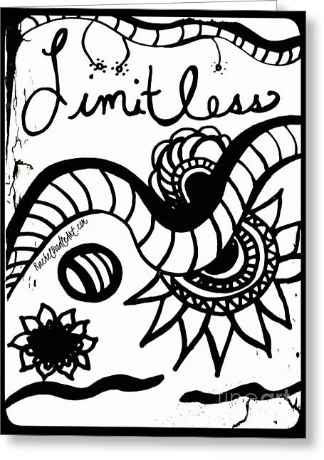 Greeting Card featuring the drawing Limitless by Rachel Maynard