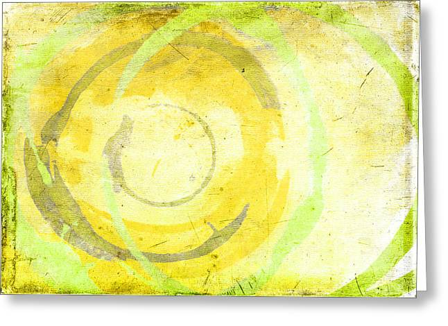 Abstract Greeting Cards Greeting Cards - Limoncello Greeting Card by Julie Niemela