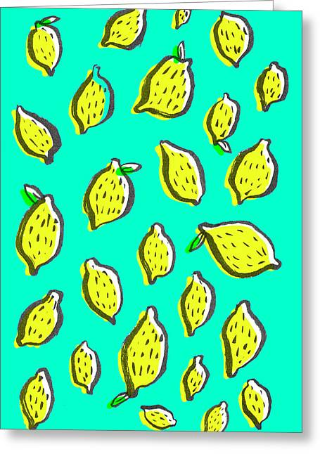 Limones De Primavera Greeting Card by Studio Sananikone