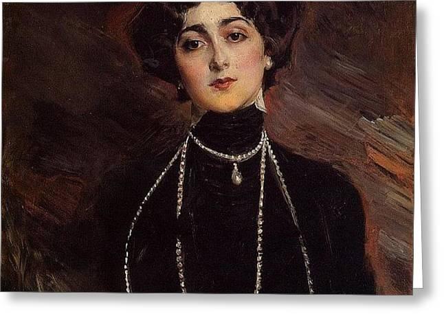 Lina Cavalieri 1901 Greeting Card