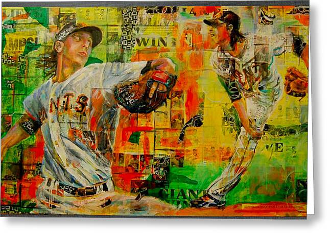 Lincecum's Stride Greeting Card