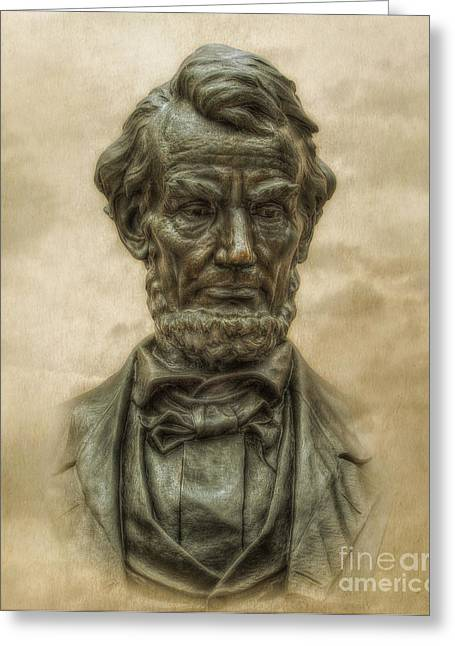 Lincoln Address Memorial Statue Greeting Card by Randy Steele