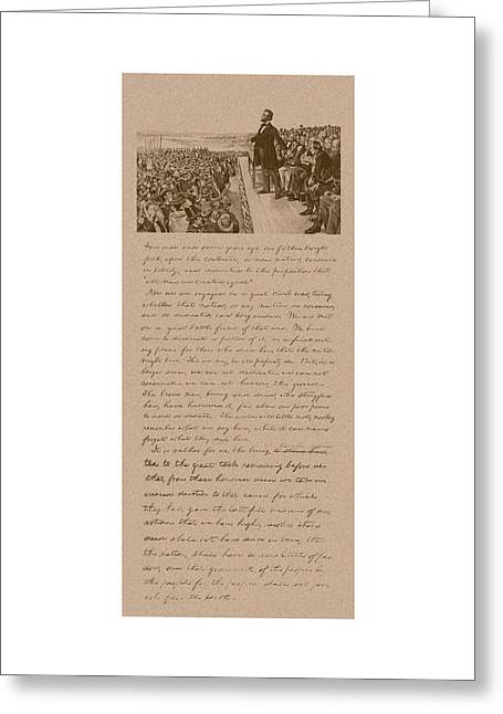 Lincoln And The Gettysburg Address Greeting Card by War Is Hell Store