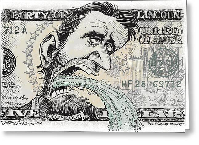 Lincoln Barfs Greeting Card