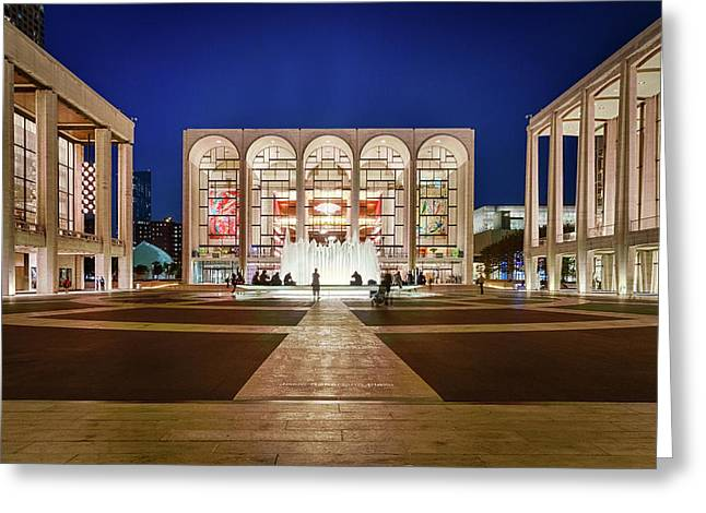 Lincoln Center At Night Greeting Card by Art Calapatia