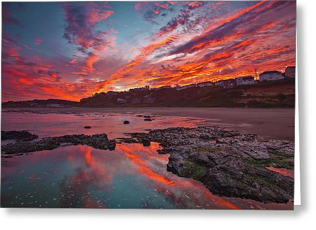Lincoln City Sunrise Greeting Card by Darren White