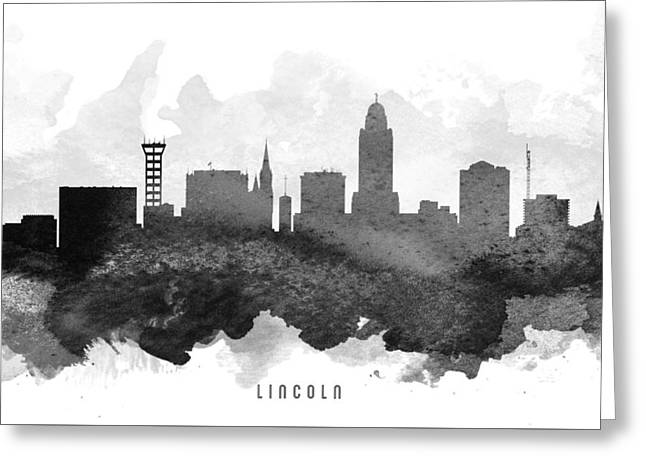 Lincoln Cityscape 11 Greeting Card by Aged Pixel