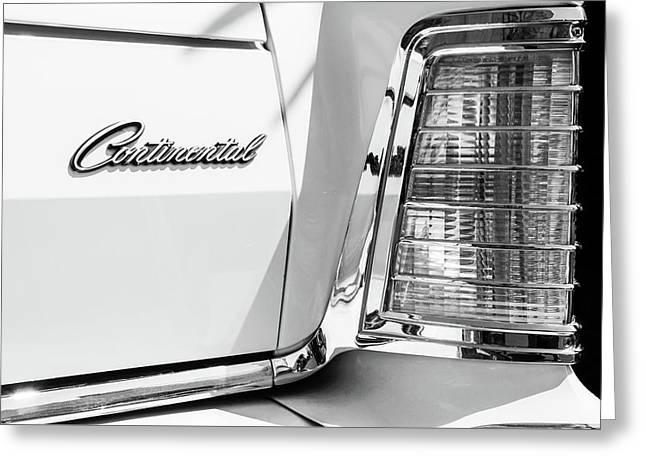 Lincoln Continental Mark Iv Head Light -0149bw Greeting Card