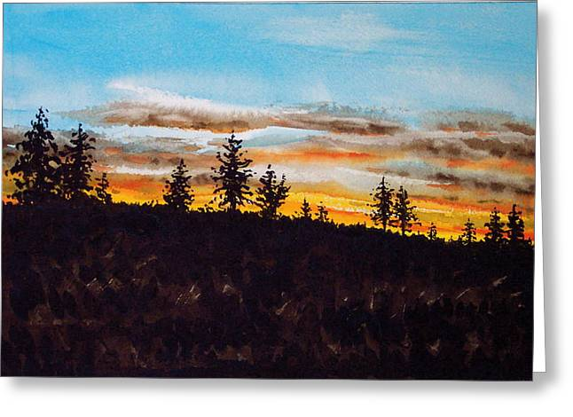Lincoln County Sunset 1 Greeting Card
