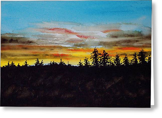 Lincoln County Sunset 2 Greeting Card