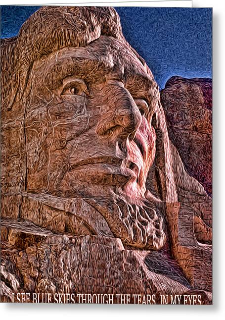 Lincoln Crying Greeting Card by Kevin  Sherf
