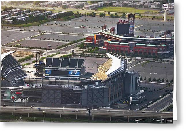 Lincoln Financial Field And Citizens Bank Park Greeting Card by Bill Cannon