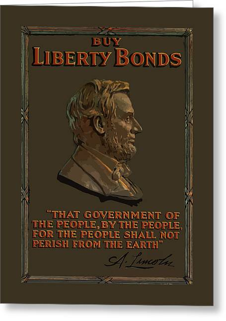 Lincoln Gettysburg Address Quote Greeting Card by War Is Hell Store
