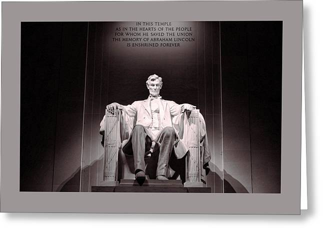 Lincoln Memorial # 3 Greeting Card