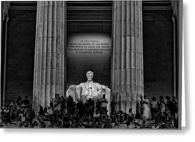Lincoln Memorial # 4 Greeting Card
