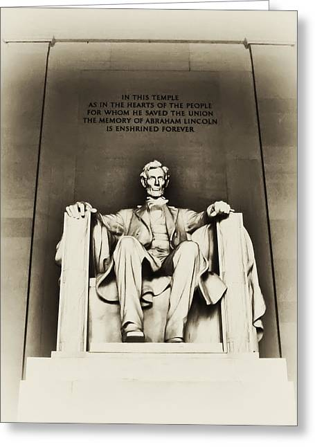 Lincoln Memorial Greeting Card by Bill Cannon