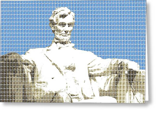 Lincoln Memorial - Blue Greeting Card