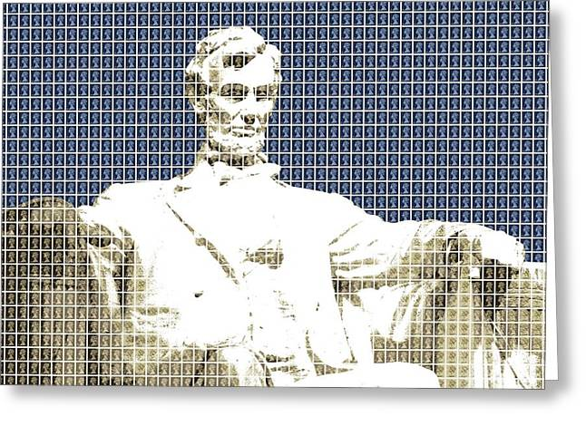 Lincoln Memorial - Dark Blue Greeting Card