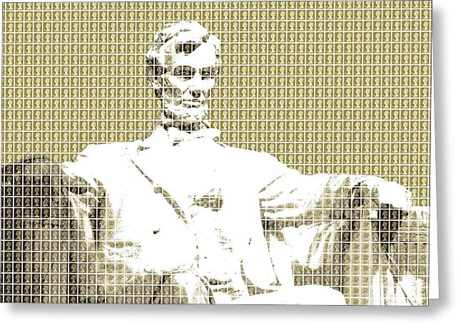 Lincoln Memorial - Gold Greeting Card