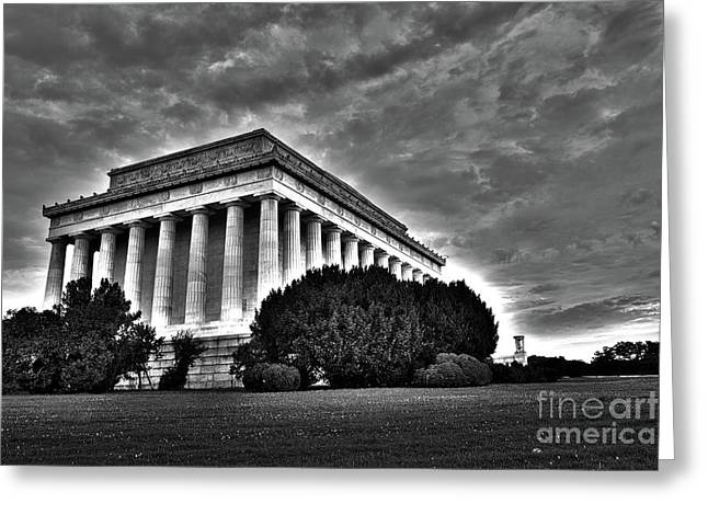 Lincoln Memorial In Washington Dc Greeting Card by ELITE IMAGE photography By Chad McDermott
