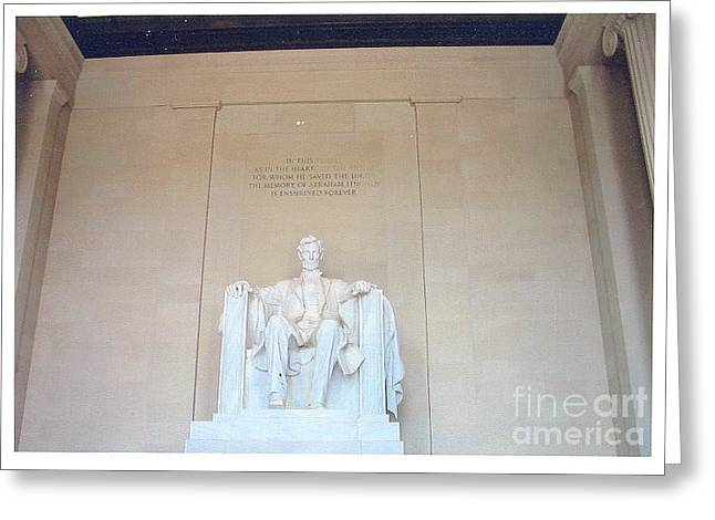 Lincoln Memorial Greeting Card by Kevin Croitz