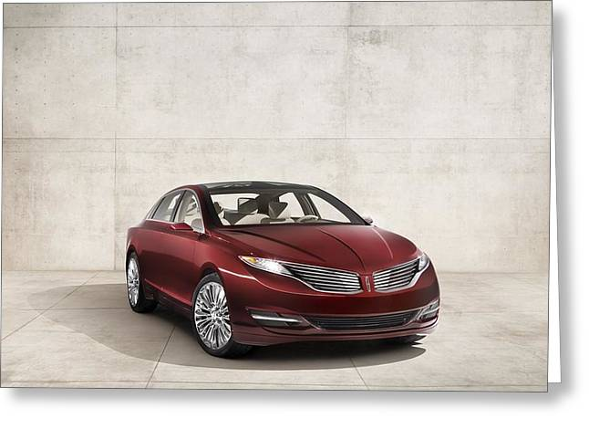Lincoln Mkz Concept 2012 Wide Greeting Card