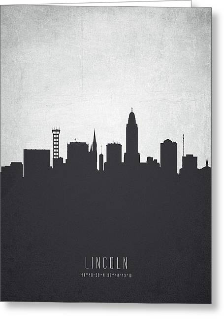 Lincoln Nebraska Cityscape 19 Greeting Card by Aged Pixel