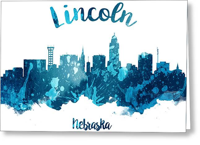 Lincoln Nebraska Skyline 27 Greeting Card by Aged Pixel
