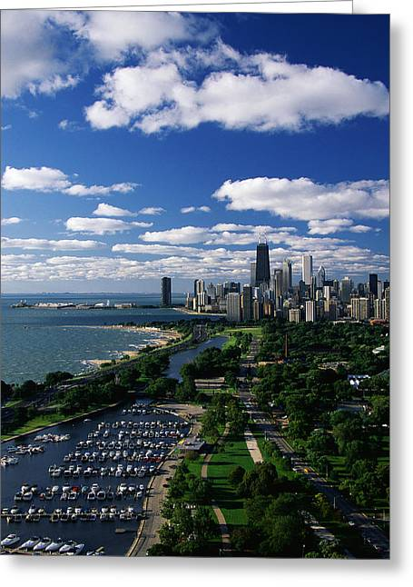 Lincoln Park And Diversey Harbor Greeting Card