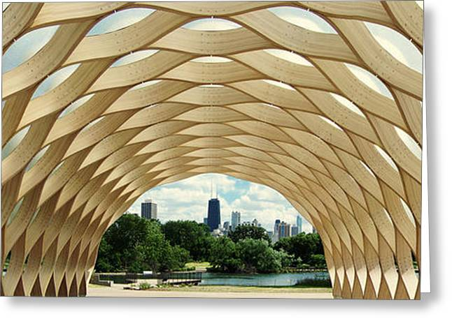 Lincoln Park Zoo Nature Boardwalk Panorama Greeting Card