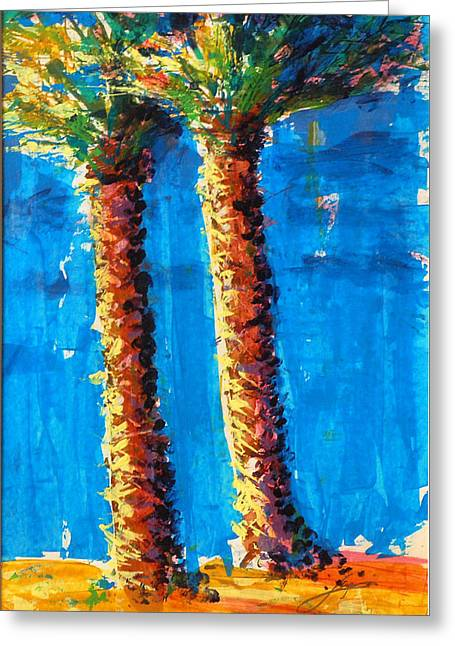 Lincoln Rd Date Palms Greeting Card