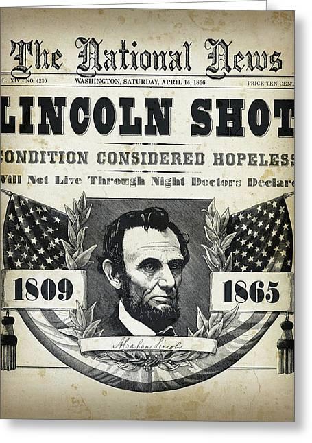 Lincoln Shot Headline  Greeting Card