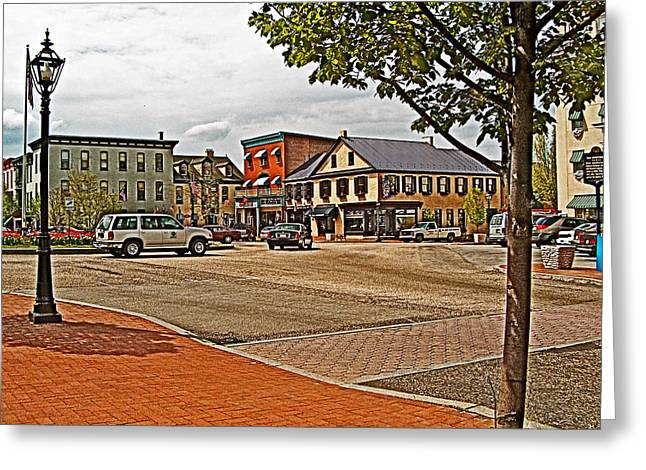 Greeting Card featuring the photograph Lincoln Square In Gettysburg Roundabout-pennsylvania by Ruth Hager