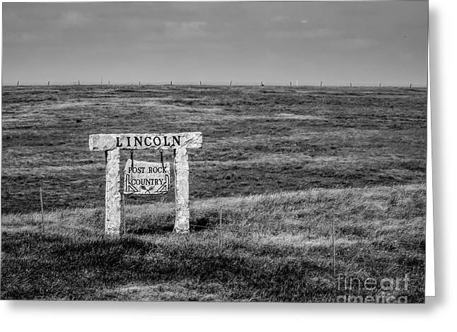 Lincon County - Post Rock Country Greeting Card by Jon Burch Photography