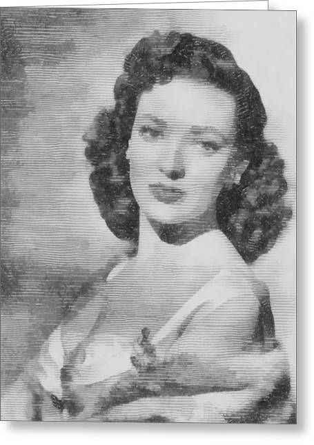 Linda Darnell, Actor Greeting Card by John Springfield