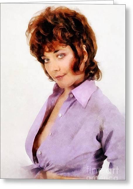 Linda Thorson, Vintage Actress By John Springfield Greeting Card by John Springfield