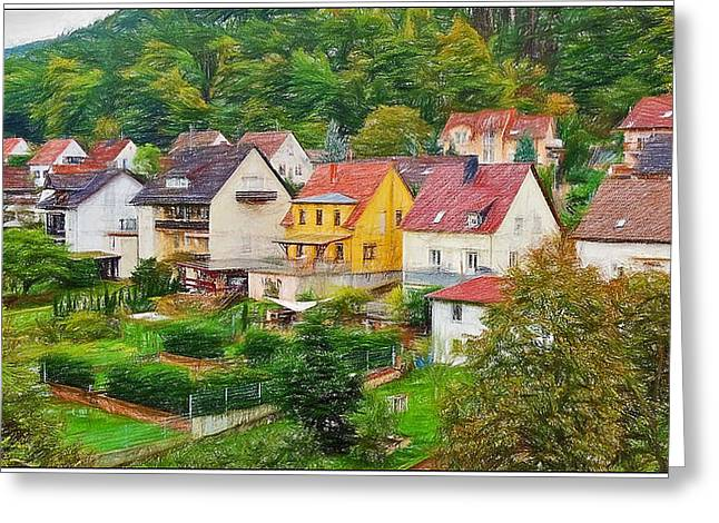 Lindberg Germany Greeting Card by Rhett Farrior