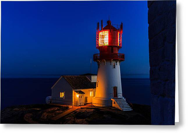 Lindesnes Lighthouse Greeting Card by Arve Sirevaag