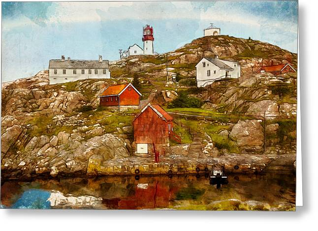 Lindesnes Lighthouse Greeting Card by Kai Saarto