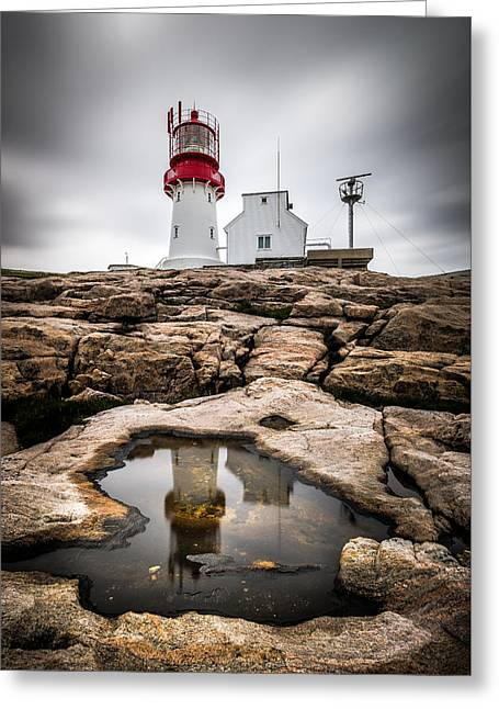 Lindesnes Lighthouse - Norway - Travel Photography Greeting Card by Giuseppe Milo