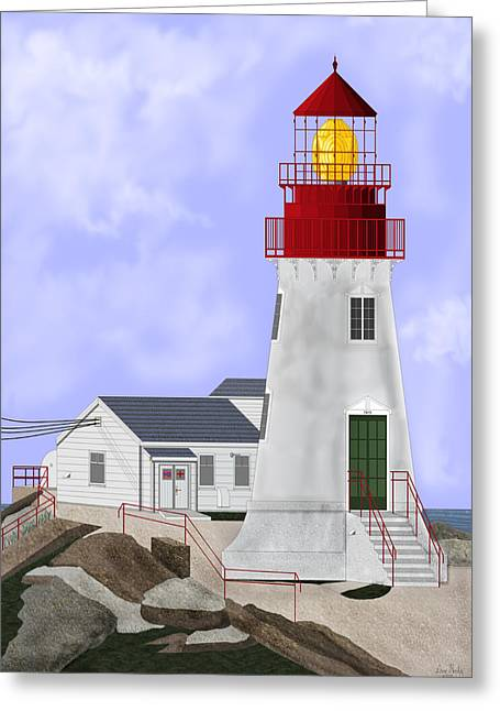 Lindesnes Norway Lighthouse Greeting Card by Anne Norskog
