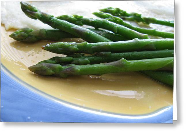 Greeting Card featuring the photograph Lindie Bistro Asparagus Spears by Lindie Racz