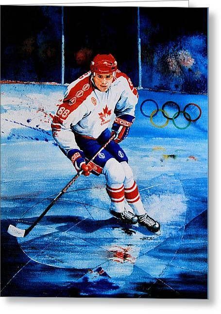 Lindros Greeting Card by Hanne Lore Koehler