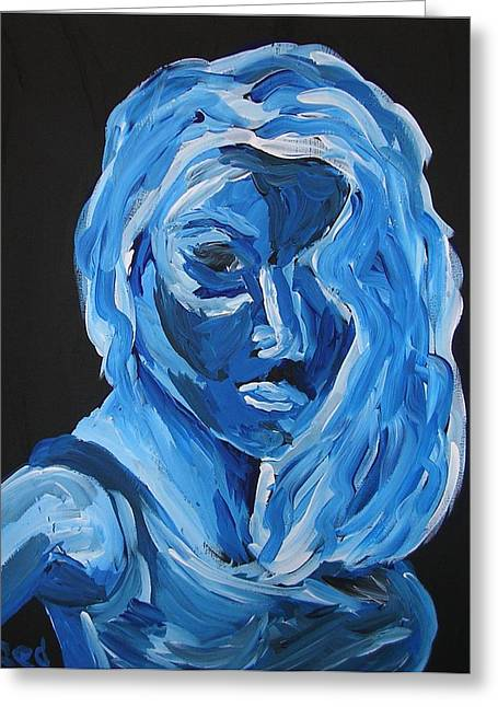 Greeting Card featuring the painting Lindsay by Joshua Redman