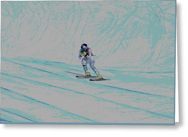 Lindsey Vonn Greeting Card by David Parsons