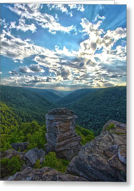 Lindy Overlook Greeting Card by Daniel Houghton