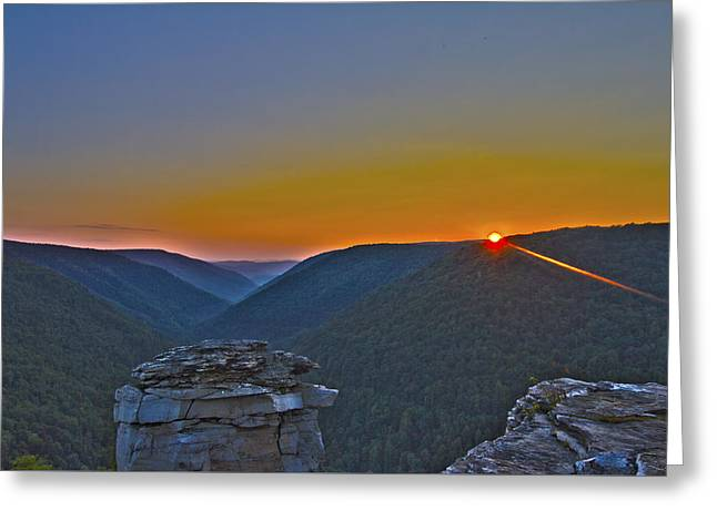 Lindy Point Sunset Greeting Card